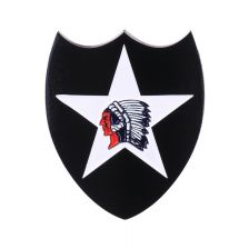 Metaal logo 2nd Infantry Division