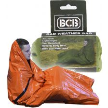 BCB Bad Weather Bag waterproof nooddeken oranje
