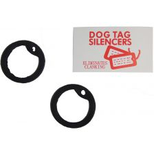 Dog Tag Silencer rubber zwart