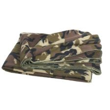 Fleece deken woodland camoflage