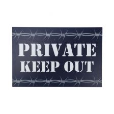 Bord PRIVATE, KEEP OUT
