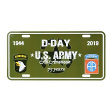 Nummerplaat D-Day U.S. Army