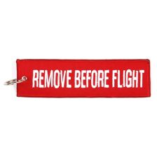 Sleutelhanger Remove Before Flight groot
