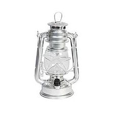 Stormlamp LED zilver 24cm