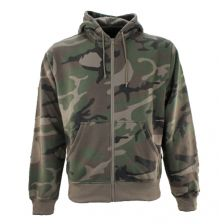 Sweater met rits in camo