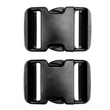 Tactical spare buckle 50mm set 2 st. zwart