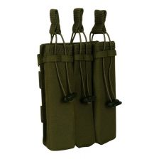 Triple side-arm magazine pouch Molle groen