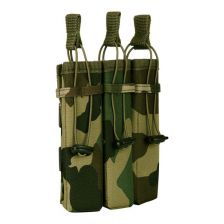 Triple side-arm magazine pouch Molle woodland camo