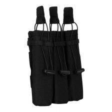Triple side-arm magazine pouch Molle zwart