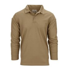 Tactical polo Quickdry lange mouw Coyote