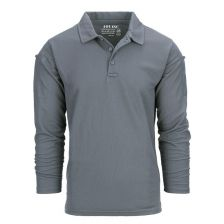 Tactical polo Quickdry lange mouw Wolf Grey
