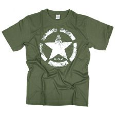 T-shirt Vintage US Army Star groen