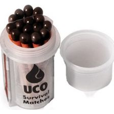 UCO wind en waterproof lucifers in waterdich boxje, 15 stuks