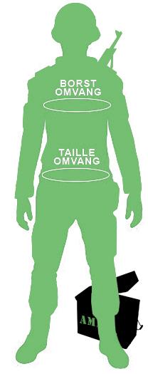omtrek bovenkleding omvang